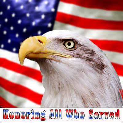 Veterans Day eagle and flag image